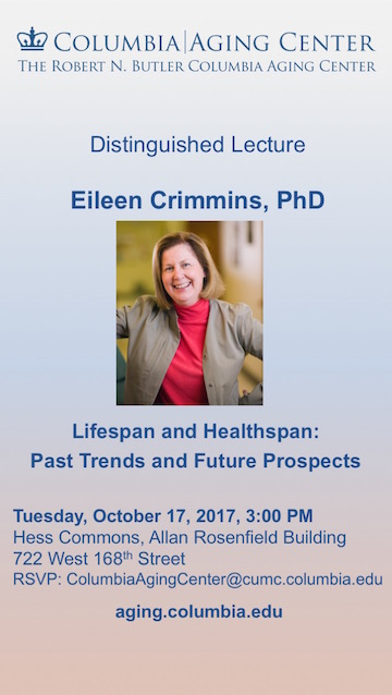 Photo of Flyer - Eileen Crimmins lecture