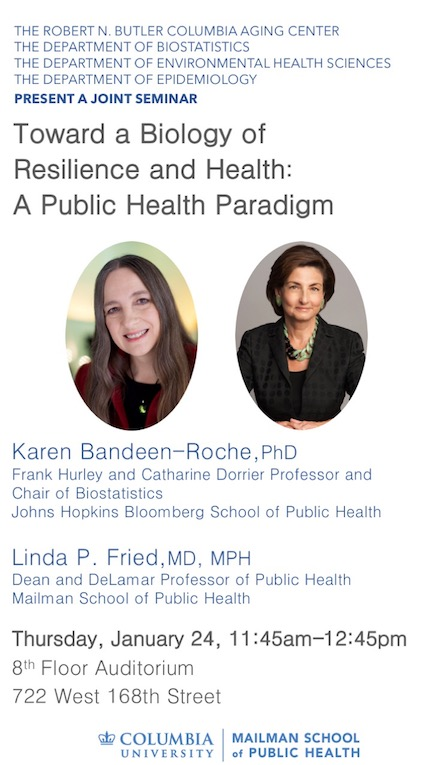 Jan 24 Seminar by K. Bandeen-Roche and L. Fried