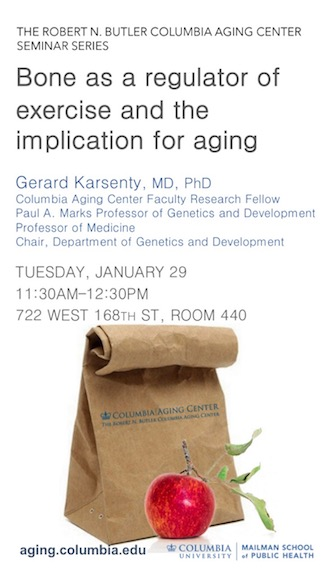 Gerard Karsenty seminar: Bone as a regulator of exercise