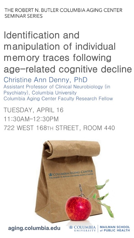 April 16 Seminar by Christine Ann Denny