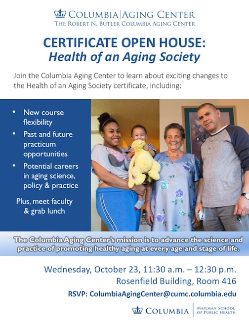 Aging Certificate Open House