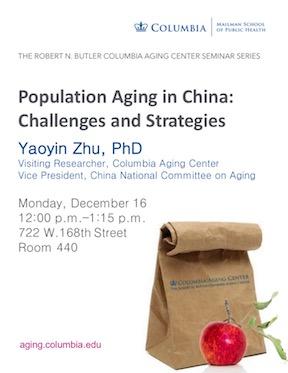 Yaoyin Zhu aging seminar