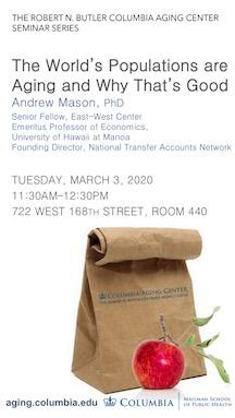 Andrew Mason Brown Bag Seminar