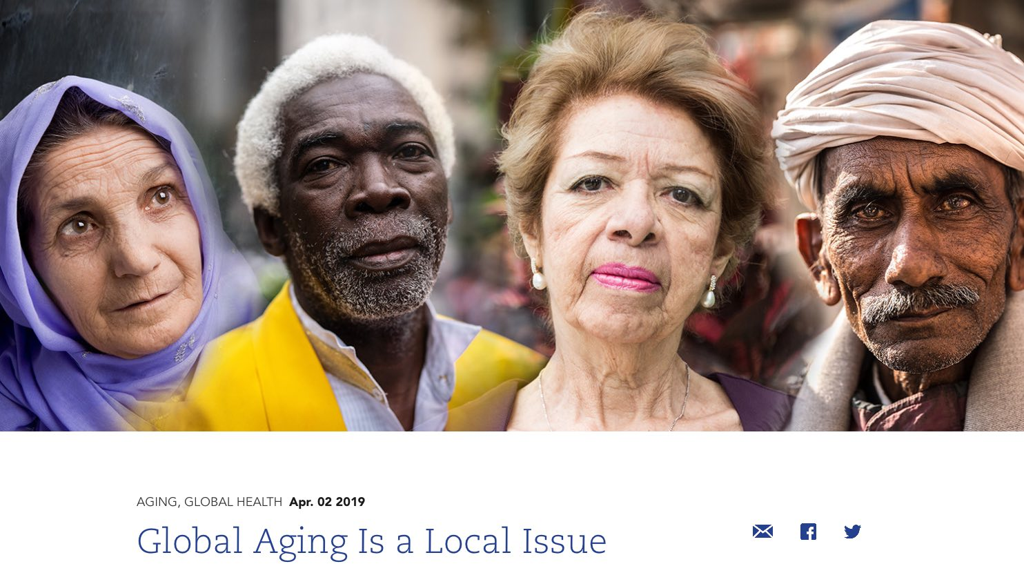 Global aging is a local issue