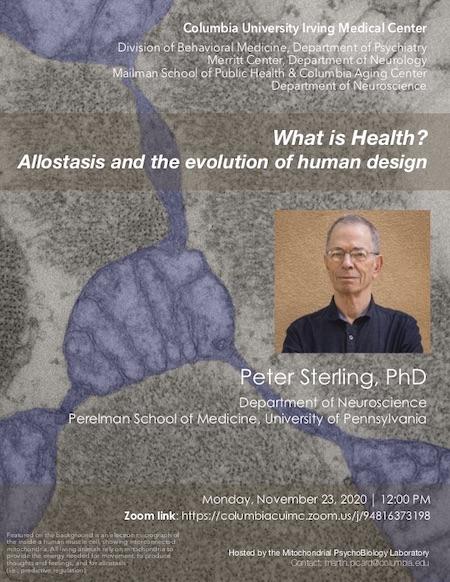 Flyer Peter Sterling Seminar