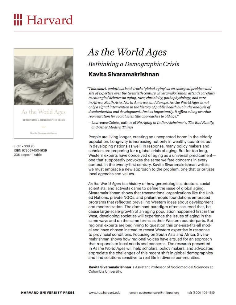 Kavita Sivaramakrishnan book cover