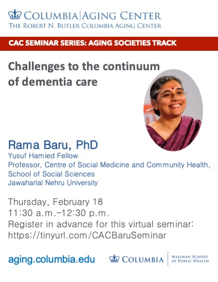 Rama Baru - Continuum of dementia care