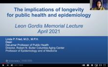 Leon Gordis Lecture by Linda P. Fried